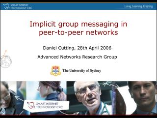 Implicit group messaging in peer-to-peer networks