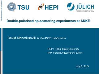 Double- polarised np-scattering experiments at ANKE