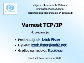 Varnost TCP/IP