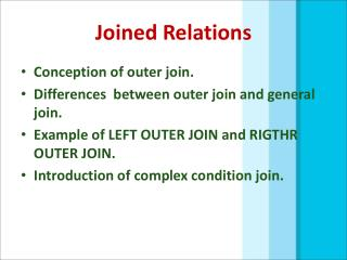 Joined Relations