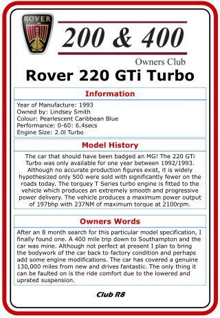 Rover 220 GTi Turbo
