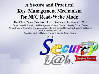 A Secure and Practical  Key  Management Mechanism for NFC Read-Write Mode