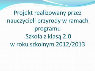 """Grupa 1 pod kierunkiem p. Marzeny Stypułkowskiej realizowała projekt """"Tuwimowe j@dło""""."""