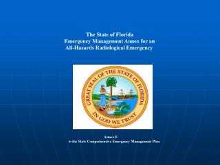The State of Florida                        Emergency Management Annex for an