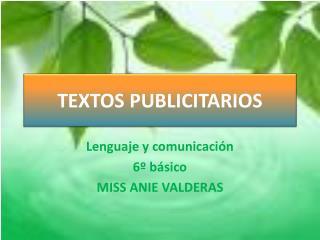 TEXTOS PUBLICITARIOS