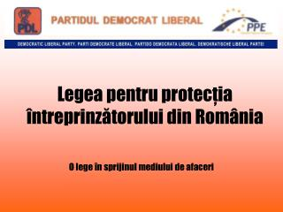 Legea pentru protecţia întreprinzătorului din România