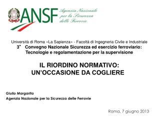 Università di Roma «La Sapienza» - Facoltà di Ingegneria Civile e Industriale