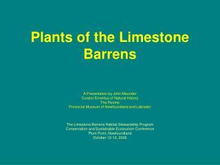 Plants of the Limestone Barrens