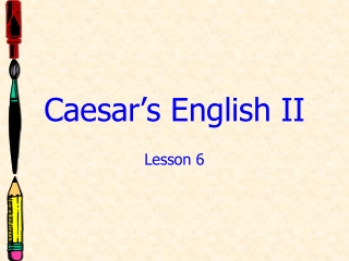 Caesar s English