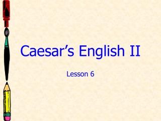 Caesar s English