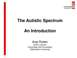 The Autistic Spectrum An Introduction