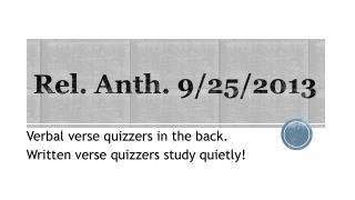 Rel.  Anth . 9/25/2013