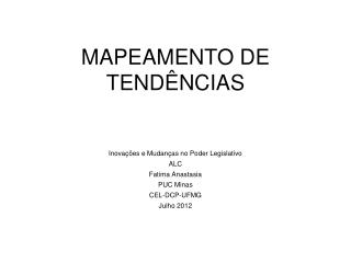 MAPEAMENTO DE  TEND�NCIAS