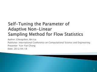 Self-Tuning the Parameter of Adaptive Non-Linear Sampling Method for Flow Statistics