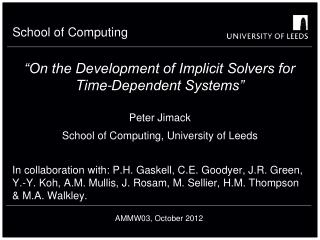 """On the Development of Implicit Solvers for Time-Dependent Systems"""