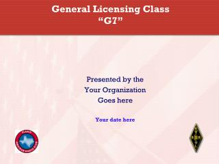 "General Licensing Class ""G7"""