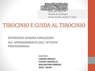 TIROCINIO E GUIDA AL TIROCINIO