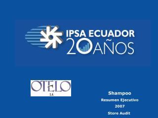 Shampoo Resumen Ejecutivo 2007