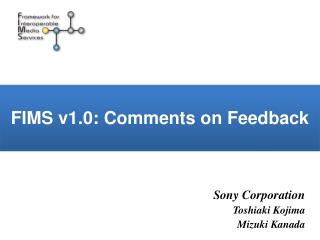 FIMS v1.0: Comments on Feedback