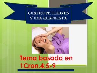 Tema basado en 1Cron.4:5-9