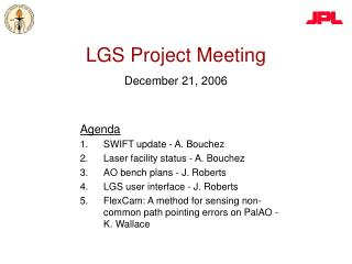 LGS Project Meeting