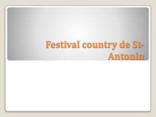 Festival country de St-Antonin