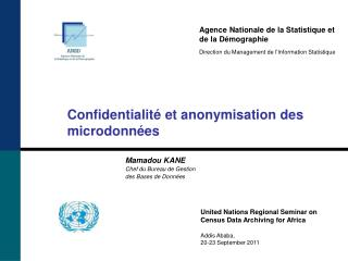 Agence Nationale de la Statistique et de la D�mographie