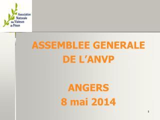 ASSEMBLEE GENERALE DE L'ANVP ANGERS 8 mai 2014