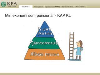 Min ekonomi som pensionär - KAP KL