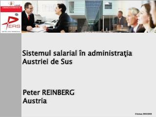Sistemul salarial în  administra ţia Austriei de Sus