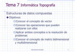 Tema 7  Informática Topografía