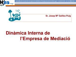 Dinàmica Interna de            l'Empresa de Mediació