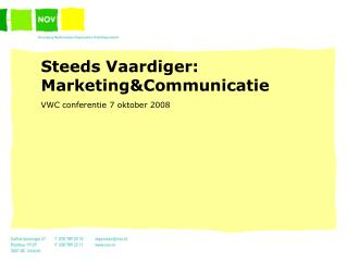 Steeds Vaardiger: Marketing&Communicatie