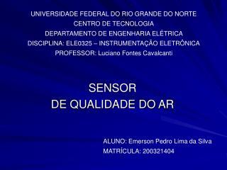 SENSOR  DE QUALIDADE DO AR