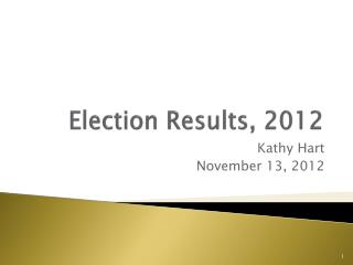Election Results, 2012
