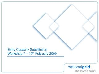 Entry Capacity Substitution  Workshop 7 – 10 th  February 2009