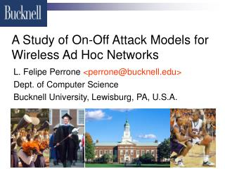 A Study of On-Off Attack Models for Wireless Ad Hoc Networks