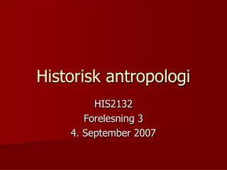 Historisk antropologi