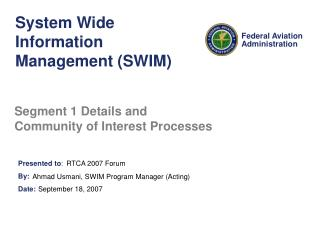 System Wide Information Management (SWIM)