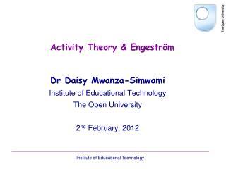 Activity Theory & Engestr � m