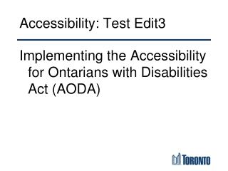 Accessibility: Test Edit3