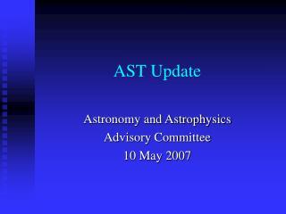AST Update