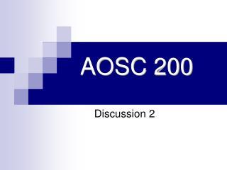 AOSC 200