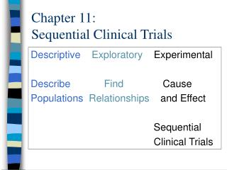 Chapter 11: Sequential Clinical Trials