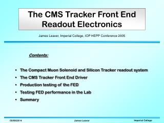 The CMS Tracker Front End Readout Electronics