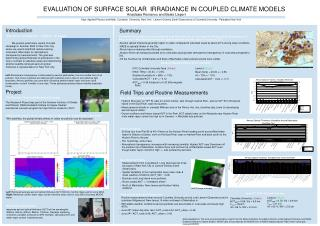 EVALUATION OF SURFACE SOLAR  IRRADIANCE IN COUPLED CLIMATE MODELS