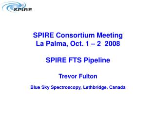 Spectrometer Pipeline