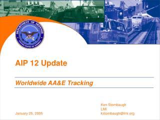 AIP 12 Update