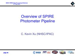Overview of SPIRE  Photometer Pipeline