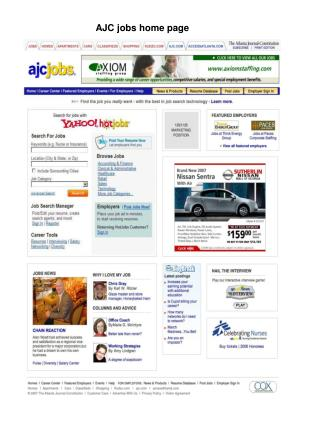 AJC jobs home page